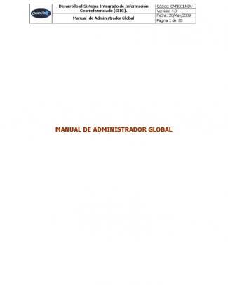 Manual Sig Quasarmap - Administrador Global