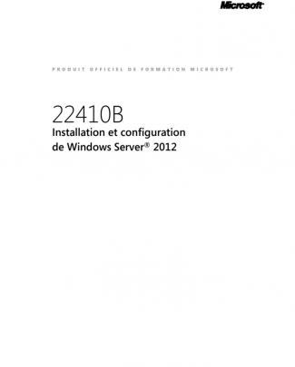 22410b-fra-installation Et Configuration Windows Server 2012