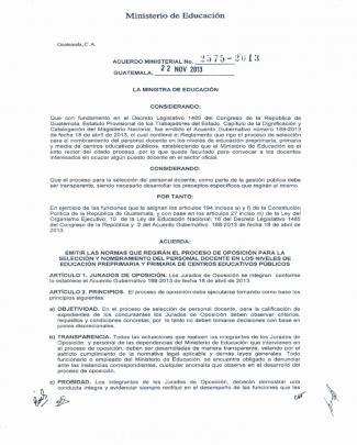 Acuerdo Ministerial 2575 2013