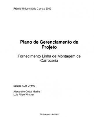 Plano De Gerenciamento Do Projeto - Equipe Alr Ufmg