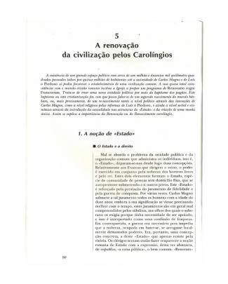 Balard, Michel. A Renovação Da Civilização Pelos Carolíngios.-1