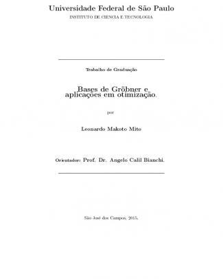 Bases De Gröbner E Aplicações Em Otimização