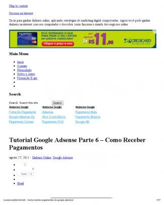 Tutorial Google Adsense Parte 6 – Como Receber Pagamentos « Sucesso Na Internet