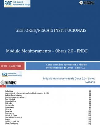 Manual Modulo Monitoramento De Obras 2 0 Gestor Fiscal 6-08-2013