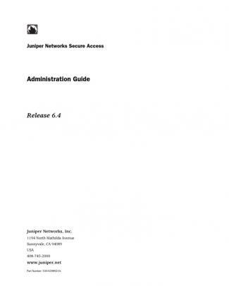 Ssl Vpn - Admin Guide