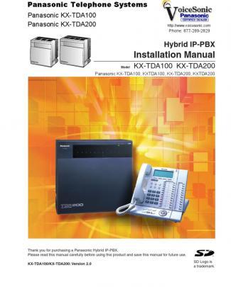 Kx Tda100 200-2-0 Installation Manual