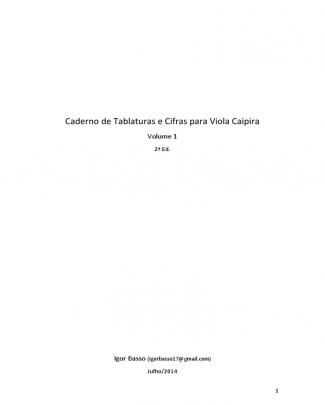 01_apostila - Cifras E Tablaturas De Viola Caipira