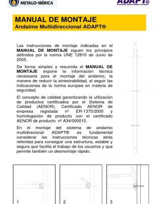 Manual De Montaje Adapt Metalo Iberica