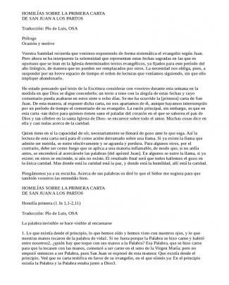 Homilia Primera Carta De San Juan