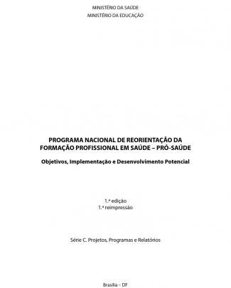 Programa Nacional Reorientacao Profissional Saude