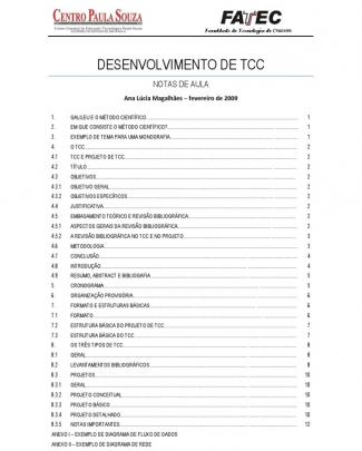 Apostila - Introduçao Ao Projeto De Tcc
