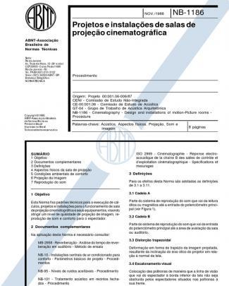 Nbr 12237 - Projetos E Instalacoes De Salas De Projecao Cinematografica