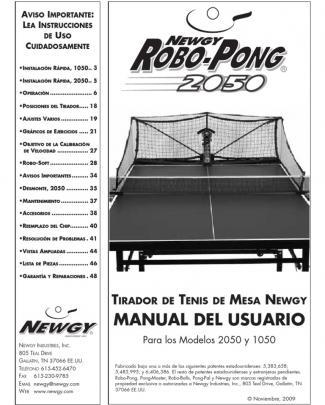 Manual Donic Robopong En Castellano