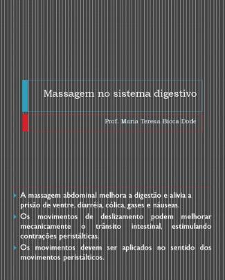 Massagem No Sistema Digestivo