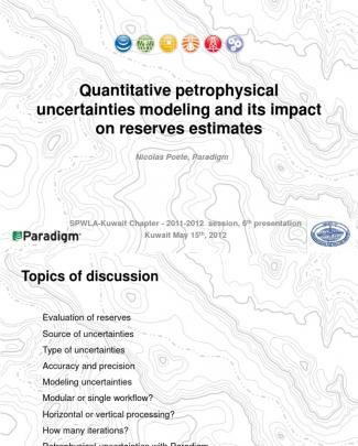 May2012 1 Quantitative Petrophysical Uncertainty Public