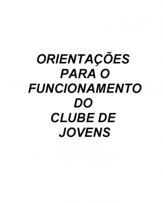 Manual Clube De Jovens - Revisado