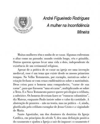 A Mulher Na Inconfidência Mineira
