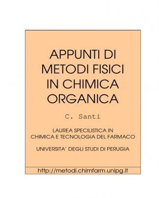 Metodi Fisici Chimica Organica - Santi