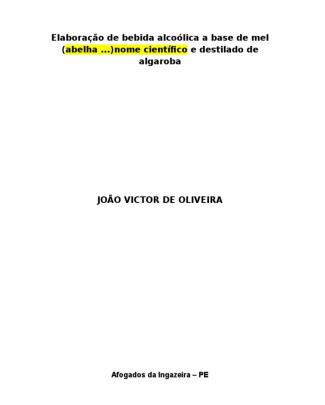 Cinética De Fermentação Hidromel João Victor