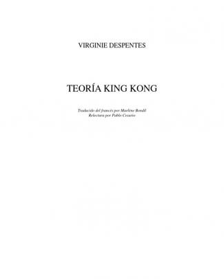 Despentes Teoria King Kong