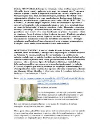 Biologia Visão Geral A Biologia é A Ciência Que Estuda A Vida De Todos Seres Vivos