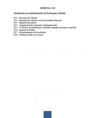Módulo 10 - O Atendimento Nos Estabelecimentos De Restauração E Bebidas