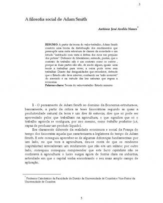 A Filosofia Social De Adam Smith - Apresenta Smith Com Napoleoni- Texto Complementar