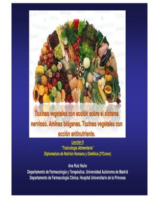 Toxinas Vegetales Neurotoxicas