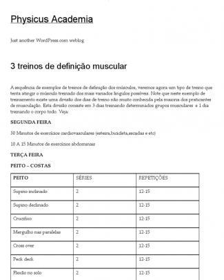 3 Treinos De Definição Muscular _ Physicus Academia