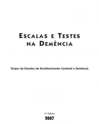 Livro_escalas E Testes Na Demància-2007