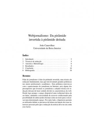 Webjornalismo Pirâmide Invertida