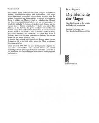 Regardie, Israel - Die Elemente Der Magie