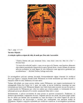 Capítulo De Em Defesa Da Fé, De Lee Strobel, Sobre Evolução