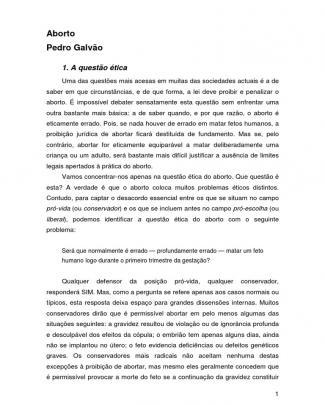 Aborto Pedro Galvão