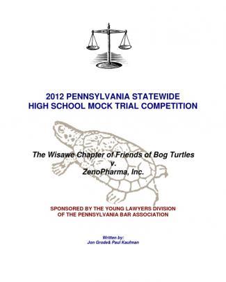 2012 Pennsylvania High School Mock Trial Problem - Bog Turtles Final - Final