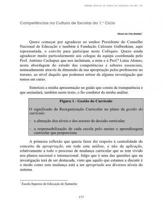 Maria Do Céu Roldão - Competências Na Cultura De Escolas Do 1.o Ciclo.o Ciclo