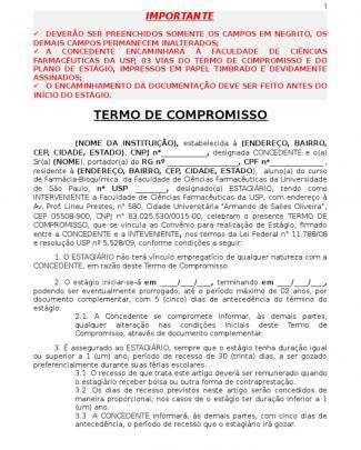 Termo De Compromisso Com Plano 2014