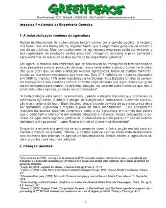 Impactos Ambientais Da Engenharia Genética