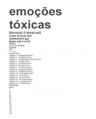 Emoçoes Toxicas