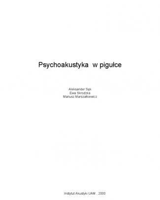 Psychoakustyka W Pigulce