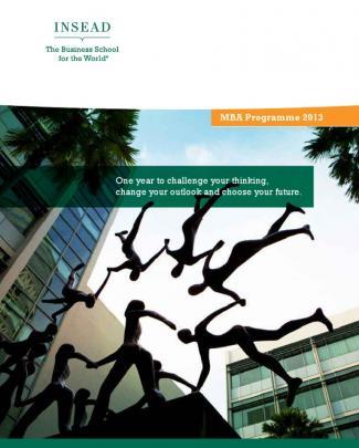 Insead Mba Brochure