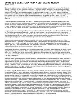 Lajolo, Marisa Do Mundo Da Leitura Para A Leitura Do Mundo