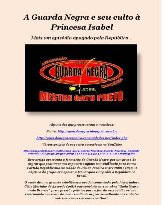 A Guarda Negra E Seu Culto à Princesa Isabel