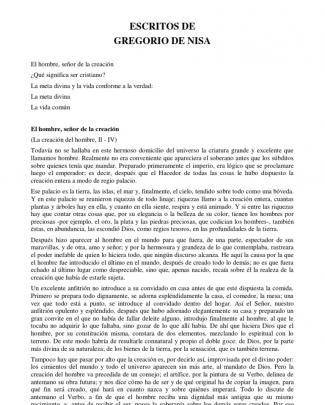 San Gregorio De Niza - Escritos