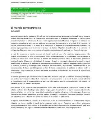 """Fg20fau002 - """"el Mundo Como Proyecto"""", Otl Aicher"""