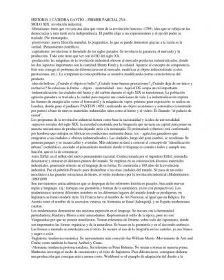 Historia 2 Cátedra Gavito – Primer Parcial