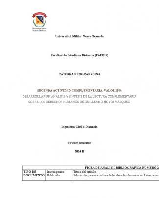 Catedra Neogranadina Actividad 2 Umng