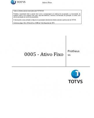 0005 - Ativo Fixo P11