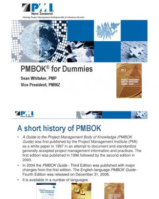 Pmbok For Dummies