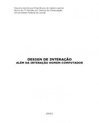 Design De Interação - Além Da Interação Homem-computador